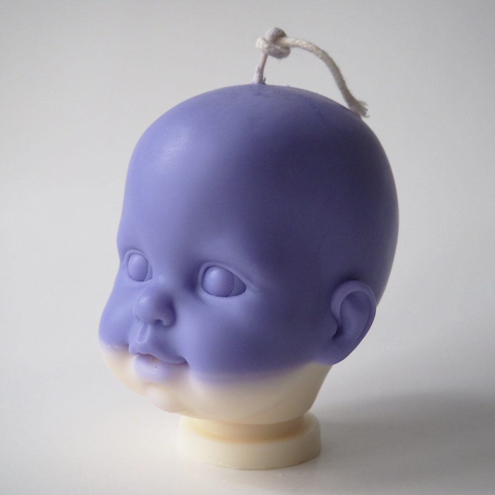 Lavender & Vanilla Soy Wax Doll Head Candle