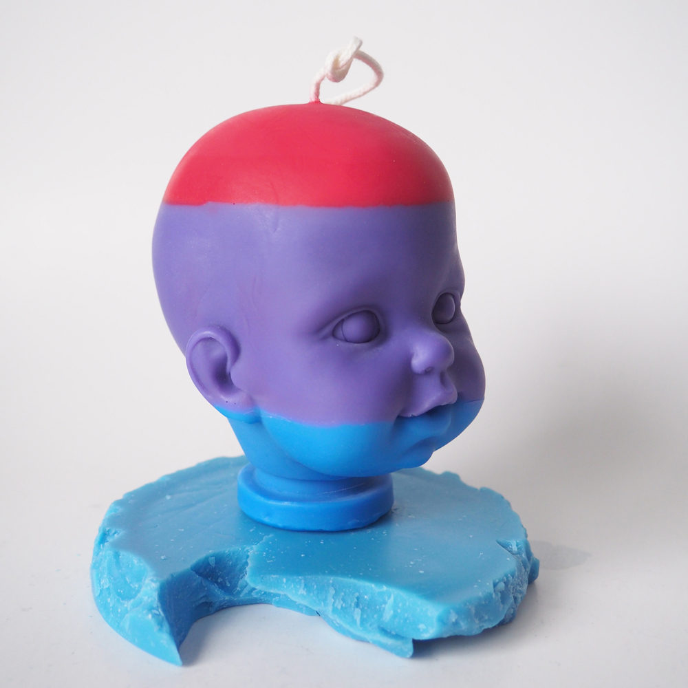 Butterfree Soy Wax Doll Head Candle.