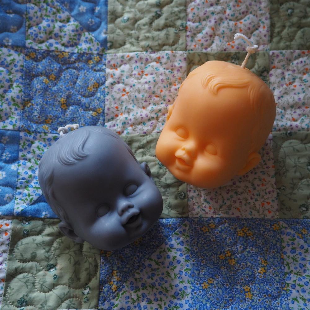 Casper Soy Wax Doll Head Candle