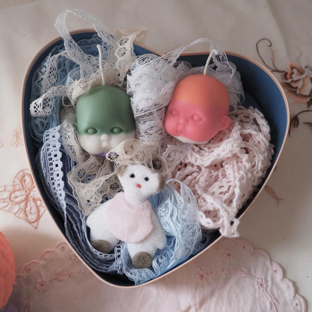 Mini Doll Head Candle